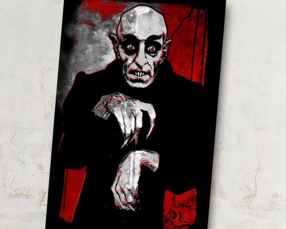 Nosferatu, Vampire, classic horror movie monster Art Print, vintage monster  movie Poster, Gothic macabre home decor