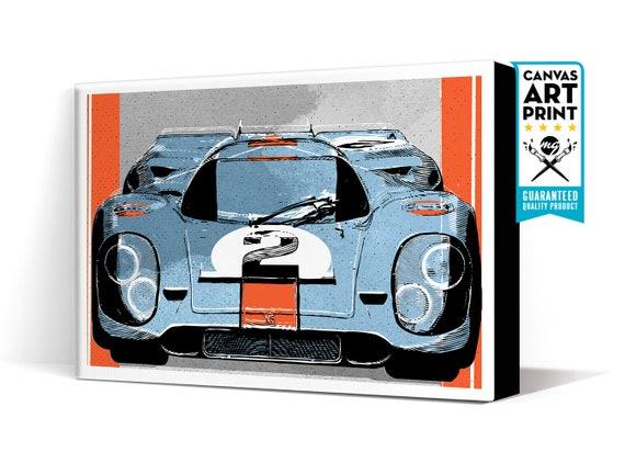 Car Art Porsche 917 Gulf Race Car Canvas Art Print Etsy