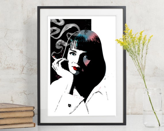 Pulp Fiction Uma Thurman Mia Wallace Art Print