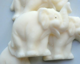 12 Elephant Soap - jungle baby shower, animal party favor