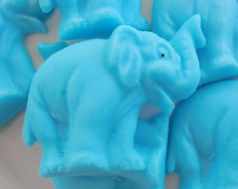 50 elephant soap favors - jungle baby shower favor - first birthday favors - animal baby shower favor - circus birthday favors - party favor