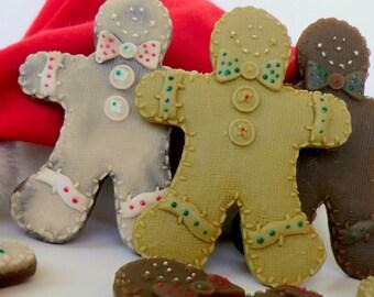 10 gingerbread soap favors - Christmas favors - stocking stuffer for kids - gingerbread decor - gingerbread man soap - gingerbread favors