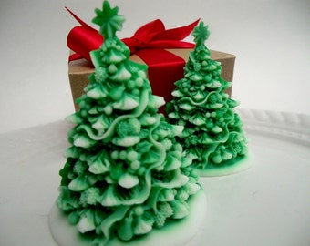 Christmas tree soap gift set - stocking for women - stocking stuffer for kids - Christmas tree soap - stocking for teen - Christmas for her