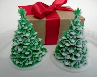 Christmas tree soap gift set - Christmas for her - stocking for women - stocking stuffer for kids - Christmas tree soap - stocking for teen