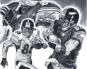 003d2d600 Hines Ward of Pittsburgh Steelers Art Poster