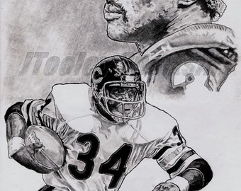 Walter Payton of Chicago Bears Poster ART