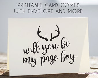 page boy card, printable page boy card, card for page boy, printable cards for pageboy