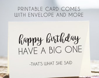 Printable Birthday Card Happy Bday Cards Digital Download