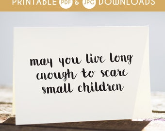 printable birthday card, funny birthday card, birthday card for her, birthday card for friend, printable birthday card