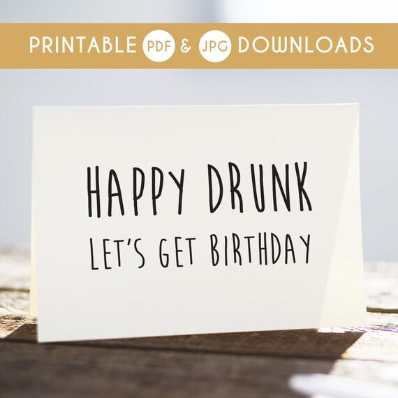 Funny Birthday Card Funny Printable Card Sarcastic Birthday Etsy