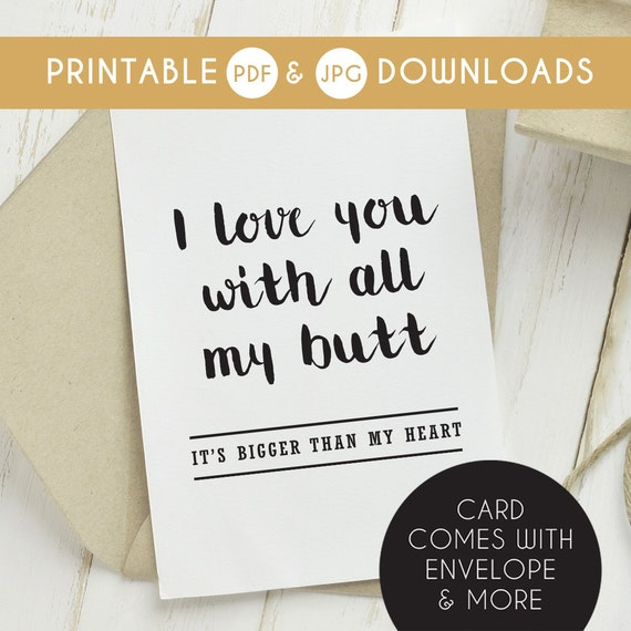 Printable Funny Boyfriend Card Birthday