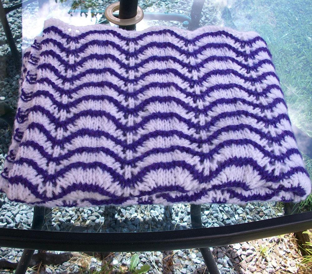 PDF Baby Blanket KNITTING PATTERN, Feather and Fan Stitch, Aran yarn ...