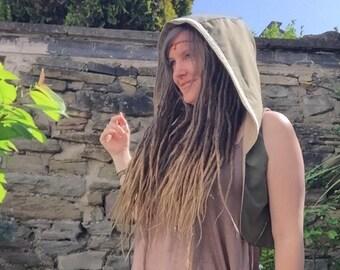 Pixie Hooded Waistcoat, Hooded Vest, Festival Clothing, Gift, Boho Vest, Fairy Top