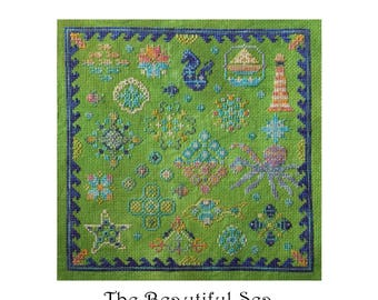 The Beautiful Sea -Cross stitch PDF