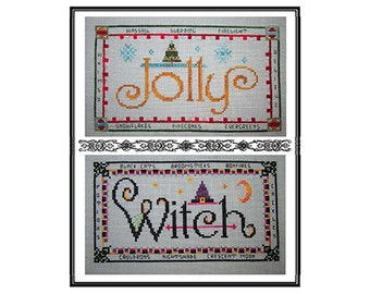 Jolly Witch PDF Cross-Stitch