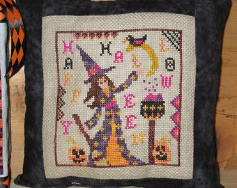 NEW**Samantha Witch Cross-Stitch PDF