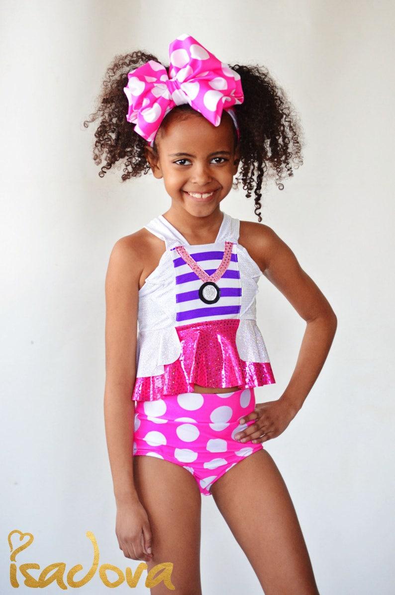 fb9b1574043e3 Girls Doc McStuffins Inspired Swim Suit | Etsy