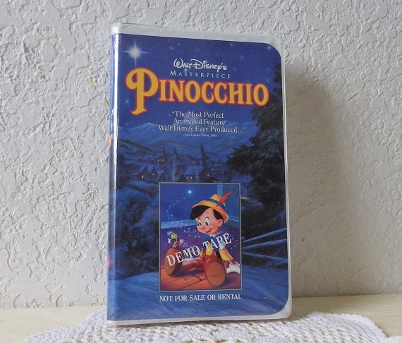 Walt Disney S Pinocchio Demo Vhs Tape In White Clamshell Etsy