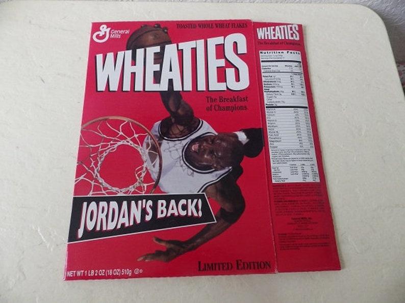 Michael Jordan Wheaties Box Jordans Back Limited Edition 1989 Flat