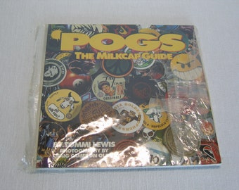 POGS The Milkcap Guide Book 1994 with 12 POGS  Collectors Guide Tommi Lewis Vintage 1990s Slammer Collect Trade Game Pieces Graphics