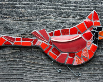 Custom Mosaic Cardinal Wall Art MADE TO ORDER
