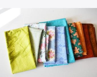 Fat Quarter Bundle ,Bulk Fabric, Quilting Squares, Fabric Bundle, Bulk Fabric, Fabric Blocks