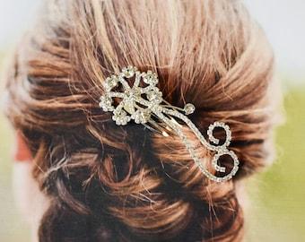 Brides Rhinestone Crystal Comb, Bridal Hair Comb Crystal, Wedding Crystal Hair Comb, Silver Hair Comb Wedding