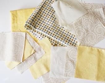 Neutral Fabric Bundle, Bulk Fabric, Quilters Fabric, Fabric, Yellow Fabric, Polka Dot Fabric