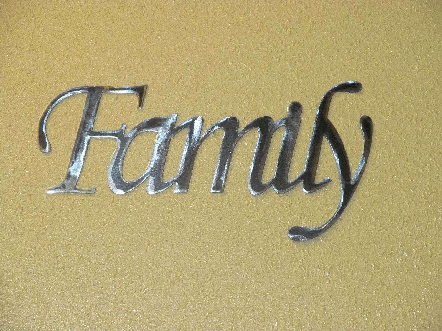 FAMILY METAL wall word | Etsy
