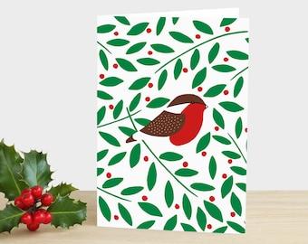 Robin Holly Weihnachtskarte