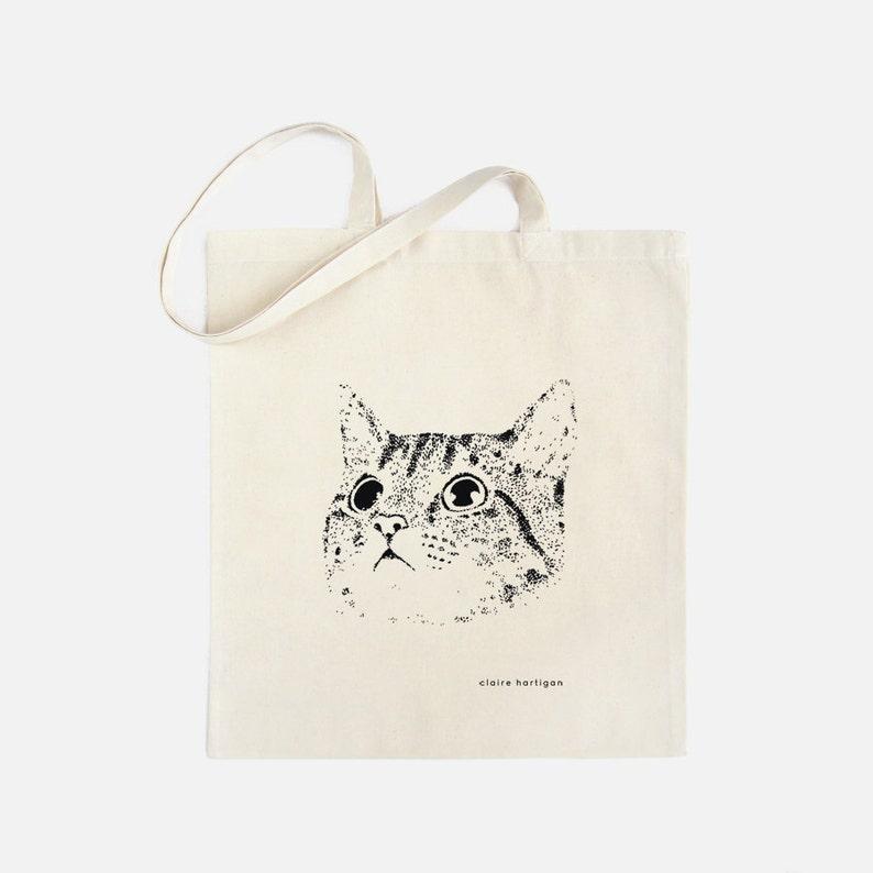 Cat Tote Bag Cat Bag Cat Cotton Shopping Bag Cats Cat image 0
