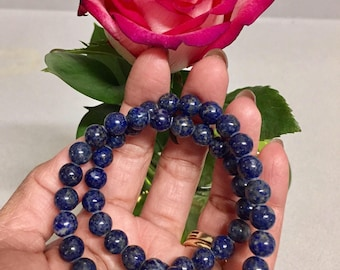 Beautiful Deep Blue Lapis Lazuli Beads from Pakistan. Charms/Healing Power/Jewelry Making/Bracelet/Necklace SN 460