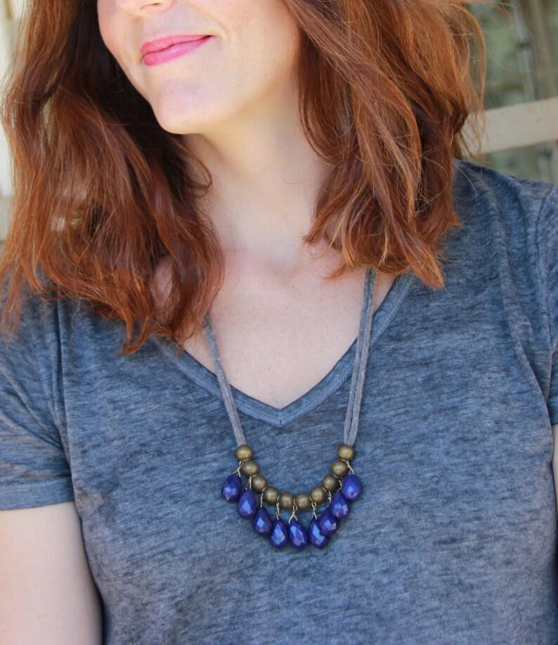 blue // indigo // cobalt // teardrop necklace image 0