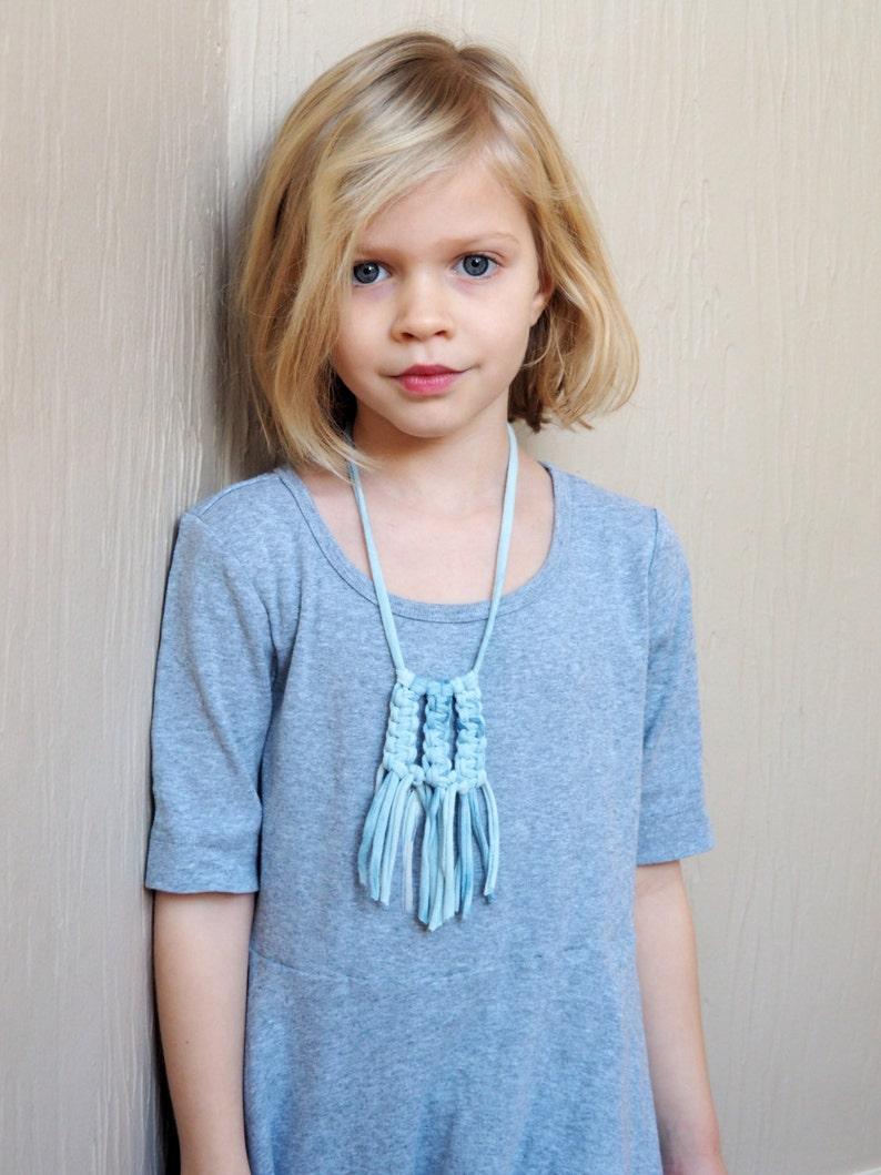 macrame fringe necklace  little livly image 0