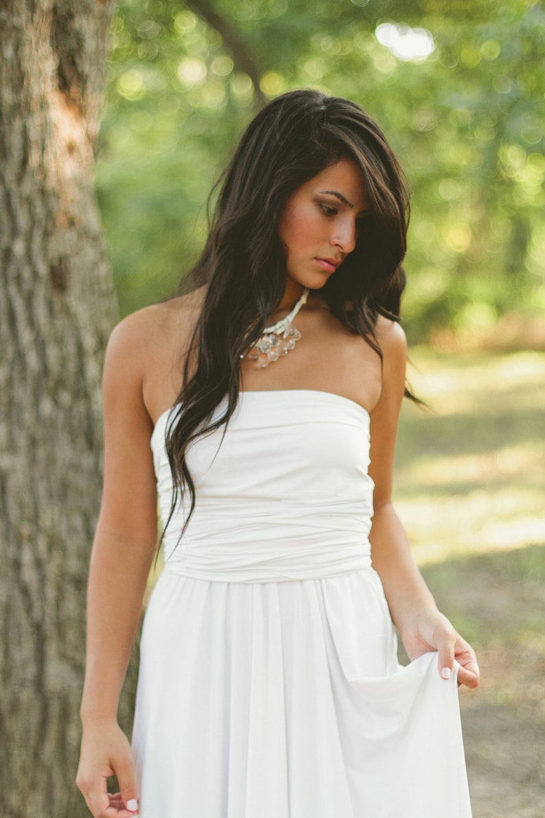 clear briolette and ivory necklace  bridal image 0