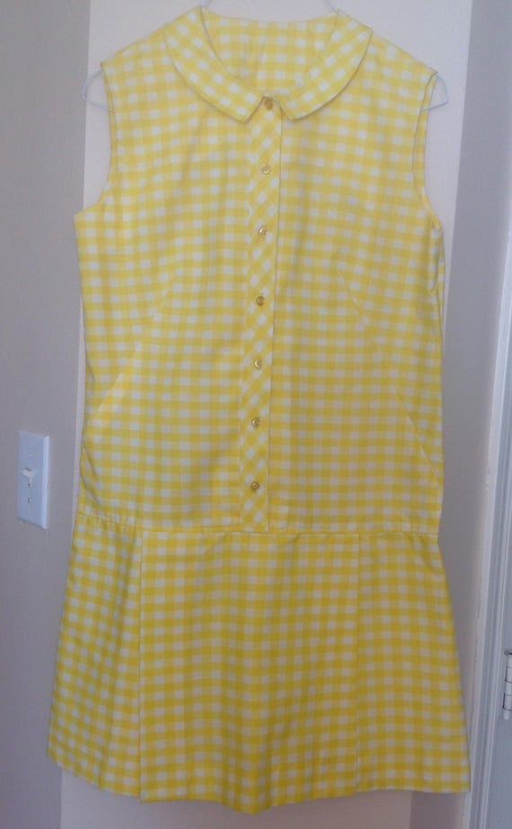 Adorable Culotte Dress Yellow Checkered Montgomery