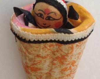 Vintage Cone Shape Pop Push Up Toy