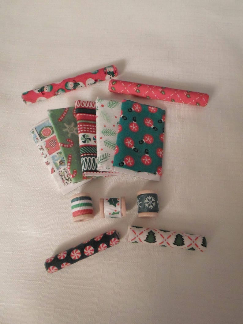 Vtg OLD STOCK Miniature Doll House Christmas Candy Cane Lot Furniture Accessory