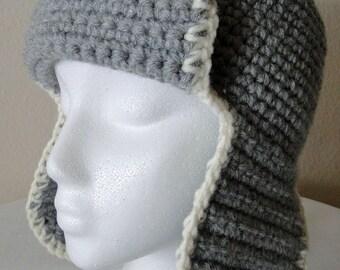 2d22f009234 Grey aviator hat