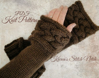 PDF Knit Pattern for Outlander Inspired Wrist Warmers