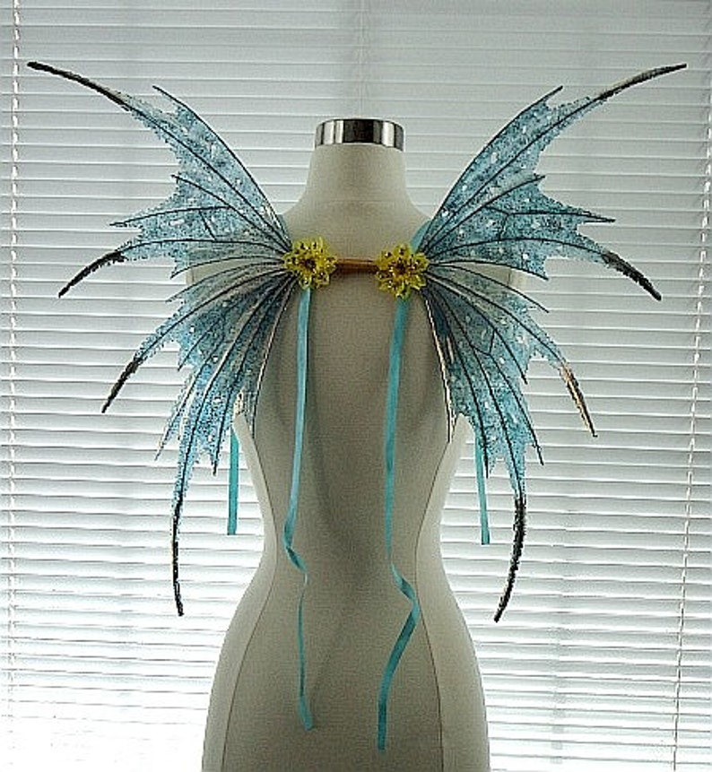 Fairy Wings-Iridescent Turquoise Adult and ChildrenMade to image 0
