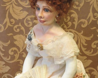 """OOAK historic art doll, """"Lily Langtry"""""""