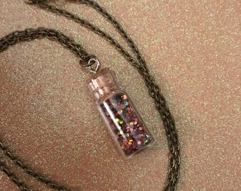 Sparkle glitter fairy dust necklace bronze shimmer