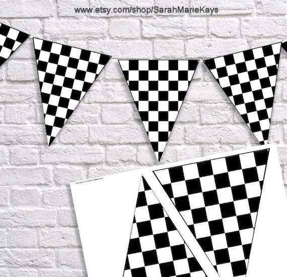 photo regarding Checkered Flag Printable titled Checkered Flag Banner Black and White, Pizza Social gathering, Pizza Birthday, Race Motor vehicle Birthday, Warm Wheels Banner, Printable Documents, Electronic Data files