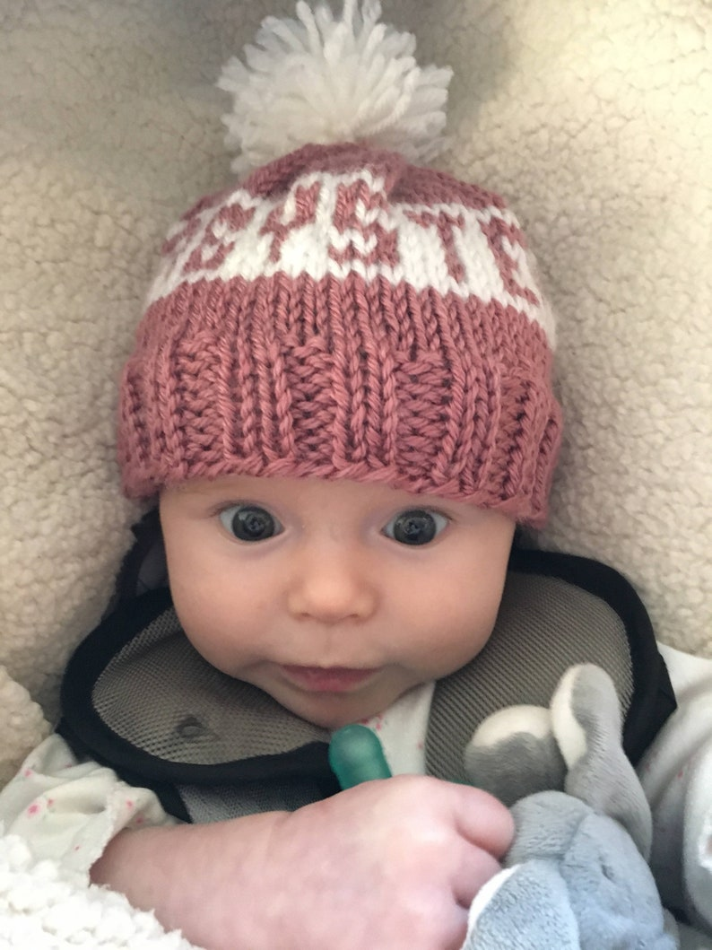 Custom Name Infant Baby Beanie