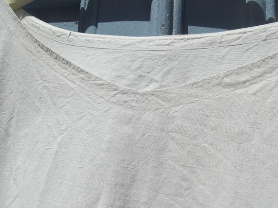Antique French Calico Linen Shift Dress - image 3
