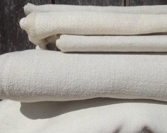 Bundle Vintage French pure Linen Fabric Patches Antique Workwear Hemp repair Squares