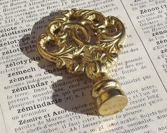 Sweet Antique French small brass key tops decorative ends cabinet wardrobe keys