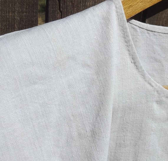 Antique French Smock Chanvre Linen Tunic Robe Dre… - image 6