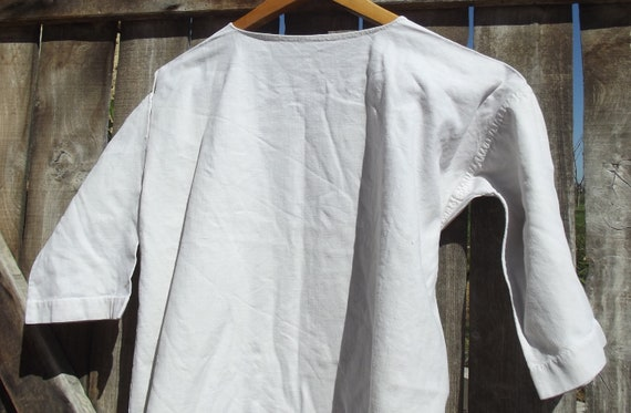 Antique French Smock Chanvre Linen Tunic Robe Dre… - image 1